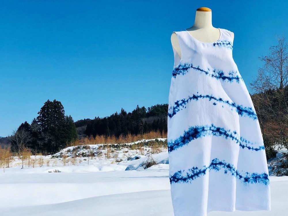 #R-j1 リネンノースリーブドレス