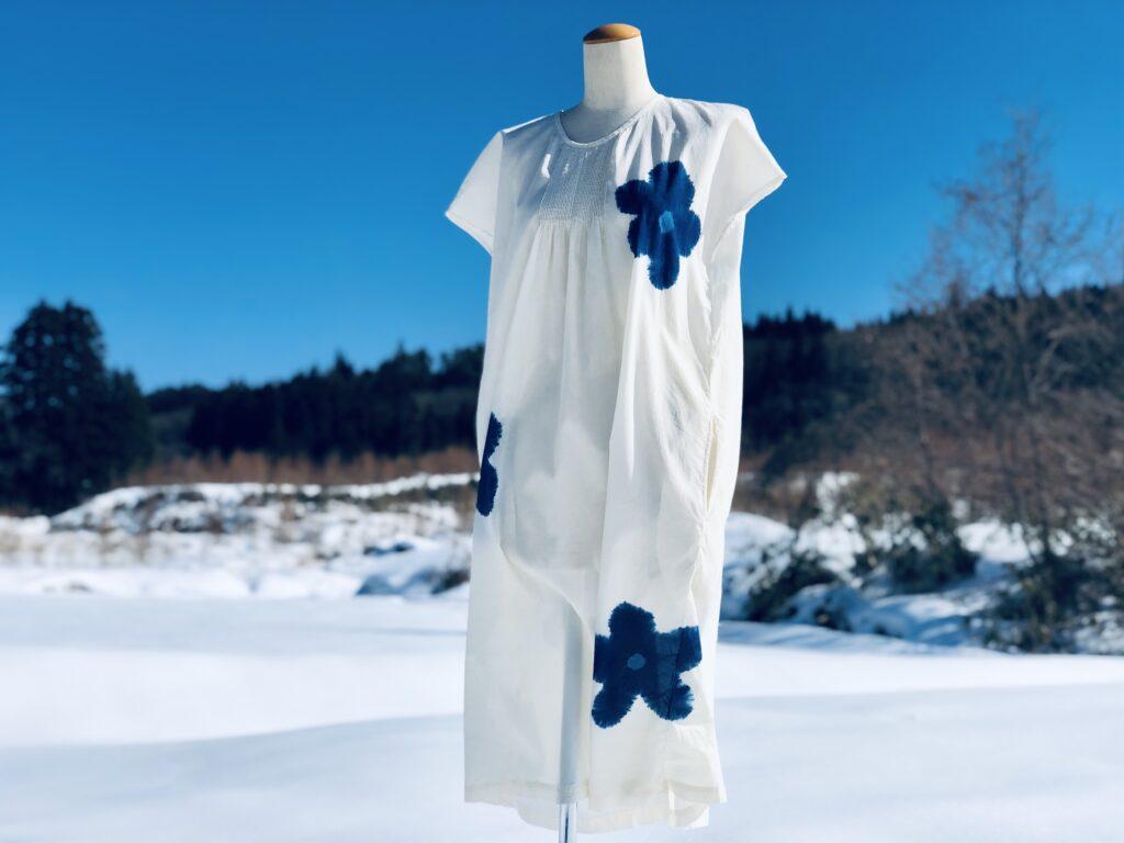 #i597 ピンタックフレンチスリーブドレス