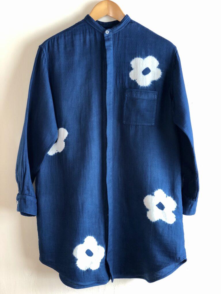 #R601 比翼ガーゼロングシャツ